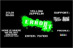 Купить билеты на ERROR37 (Australia) | 23.01 |YELLOW ZEPPELIN: