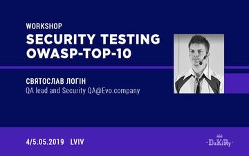 """Kupić bilety na Воркшоп-інтенсив  """"Security Testing OWASP-Top-10"""":"""