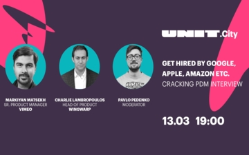 Buy tickets to UNIT.Talk | Get Hired by Google, Apple, Amazon etc. Cracking PdM interview:
