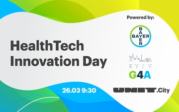 Купить билеты на HealthTech Innovation Day powered by Bayer, G4A, UNIT.City: