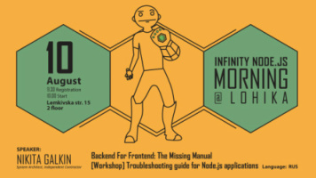 Buy tickets to  Infinity Node.js Morning@Lohika: