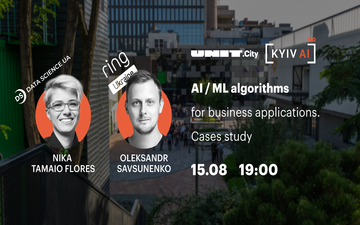 Придбати квитки на Kyiv AI 5.0: AI / ML algorithms for business applications. Cases study: