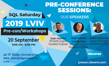 Купить билеты на SQL Saturday 2019 Lviv Workshops (Pre-con):