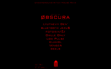 Купить билеты на Obscura vol.1 Underground Witch House Rave: