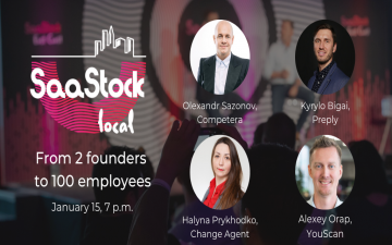 Buy tickets to SaaStock Local Kyiv 4.0: From 2 founders to 100 employees :