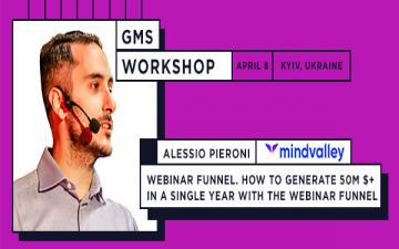 Купить билеты на Creating, promoting and optimizing your webinar. Workshop by Alessio Pieroni, Head of Marketing at Mindvalley:
