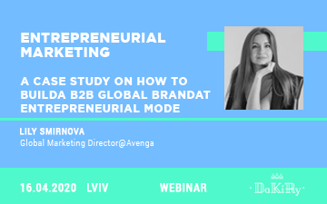 Buy tickets to Entrepreneurial marketing. A case study on how to build a b2b global brand at entrepreneurial mode: