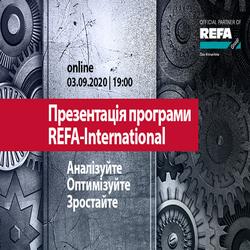 Kupić bilety na  Презентація навчальної програми REFA-International: