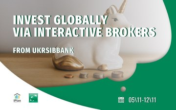 Buy tickets to Invest globally via Interactive Brokers from Ukrsibbank:
